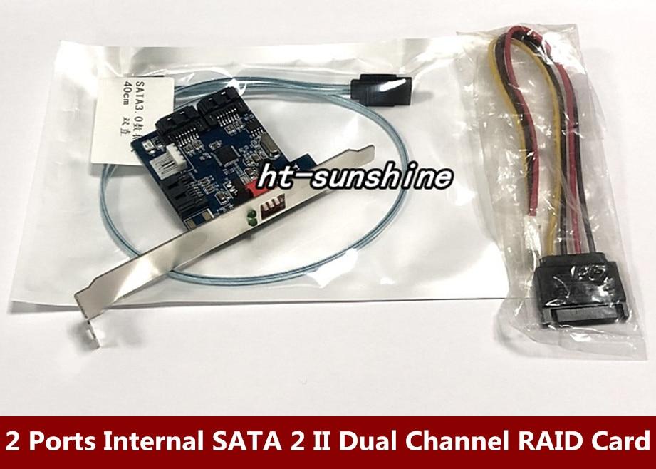 RAID CARTE ENSEMBLE 2 Ports SATA Interne 2 II Double Canal Disque Dur Accélérateur Carte Raid 0/1 Carte
