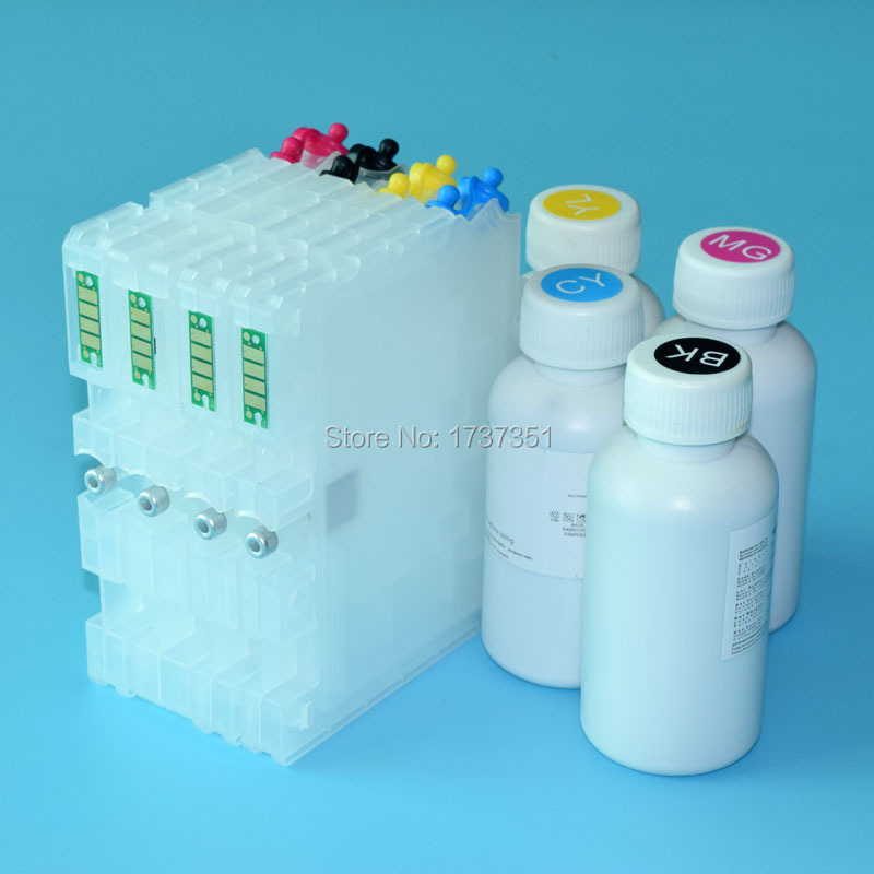 100ml 4 color Sublimation ink and refill ink cartridge with reset chip for Ricoh GC41 for Ricoh SG3110 SG2100 SG7100 SG3110DNW 100ml 4 colors sublimation ink for ricoh gc21 gc31 gc41 heat transfer ink heat press sublimation ink sg3100 sg2100 e3300n e3350n
