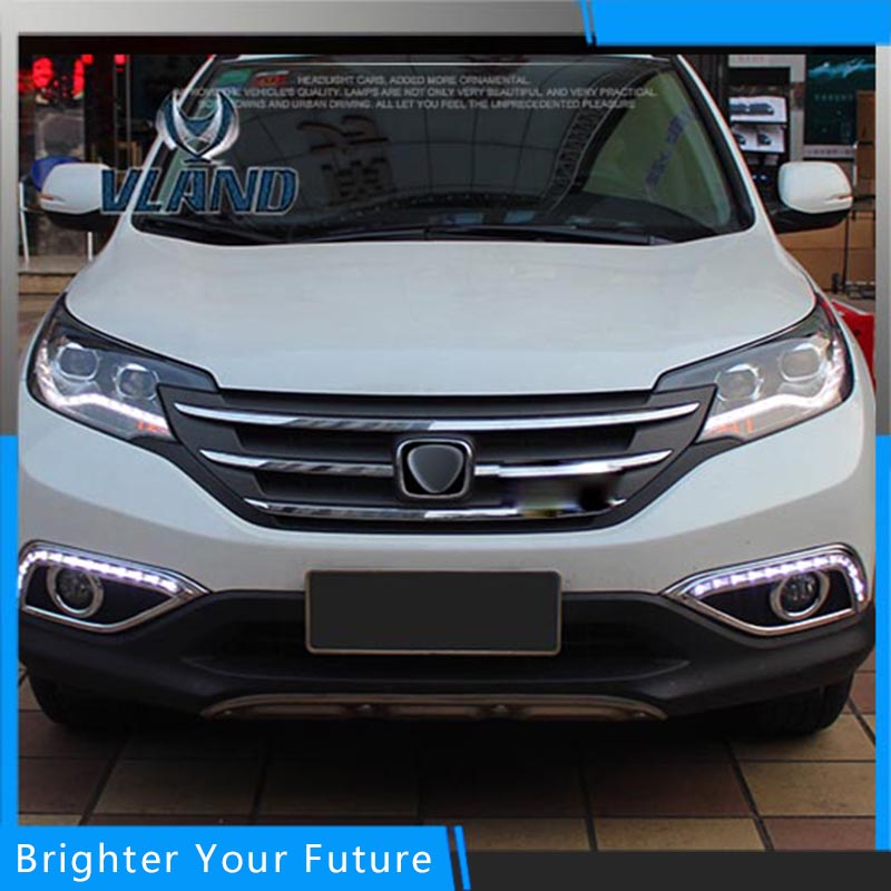 Car Styling Led Head lamp For Honda CR-V 2012-2014 Headlight Assembly DRL Bi-Xenon Lens HID Automobile Accessorie high quality hid headlights led drl angel eyes for honda cr v 2012 2014
