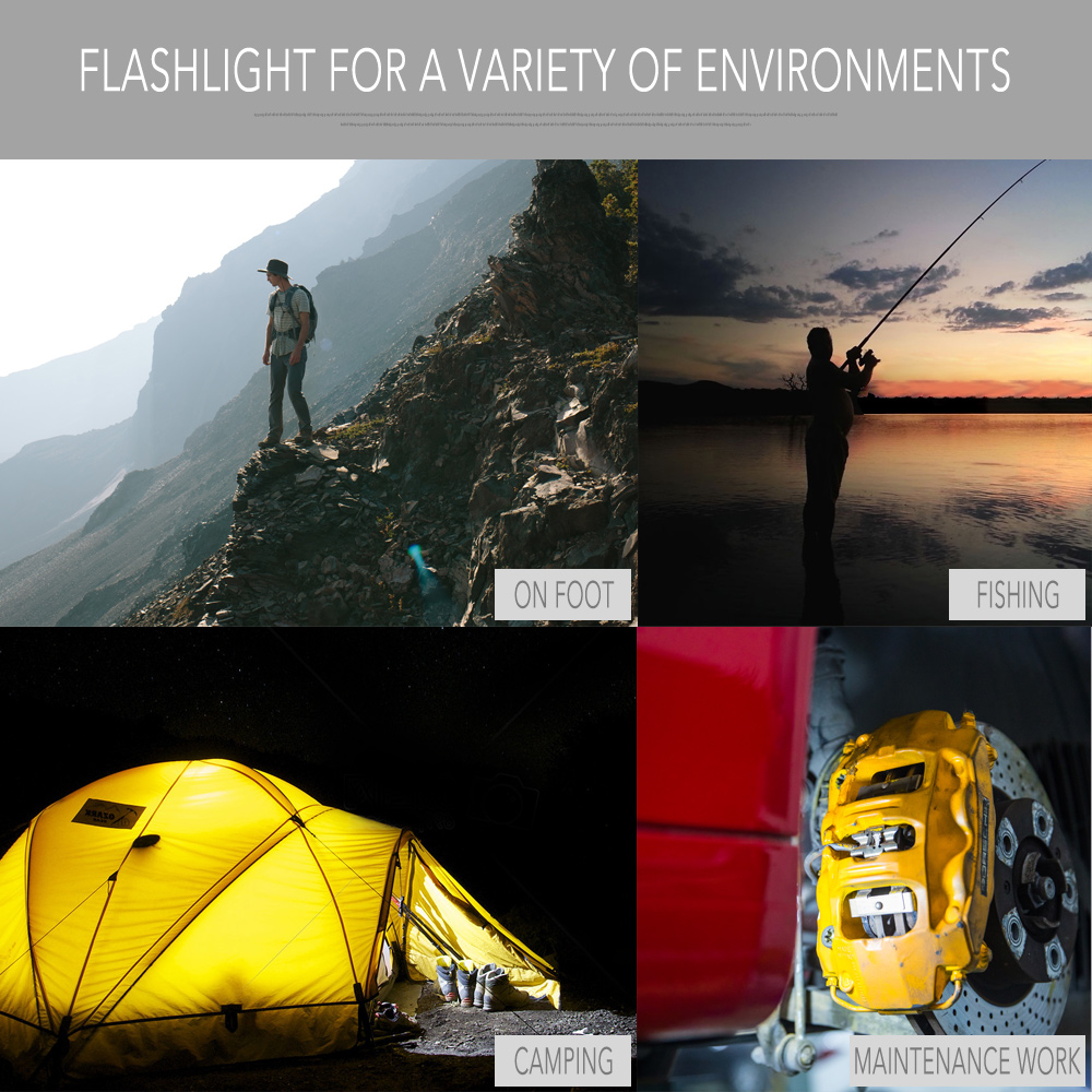 Купить с кэшбэком Led Flashlight 360 Degree T6+COB Torch 8000LM Waterproof Magnet Mini Lighting LED Torch Outdoor use 18650 or 26650 battery