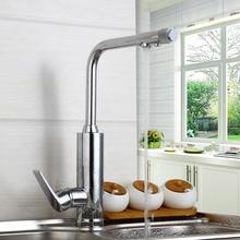 Однорычажный смеситель для кухни с смеситель горячей и холодной воды водопроводной воды очиститель Поворот на 360 градусов Кухня Раковина краны