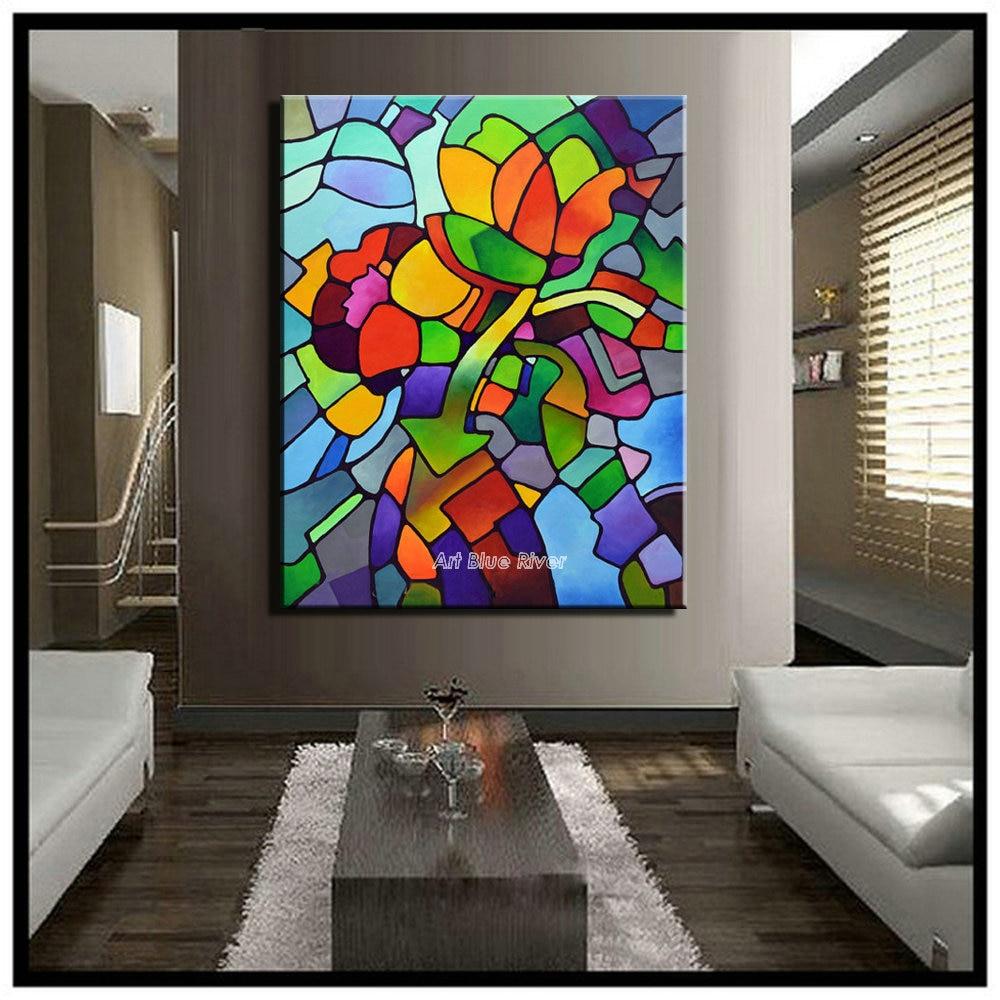 Cuadros abstractos grandes imgenes de cuadros abstractos for Imagenes de cuadros abstractos rusticos