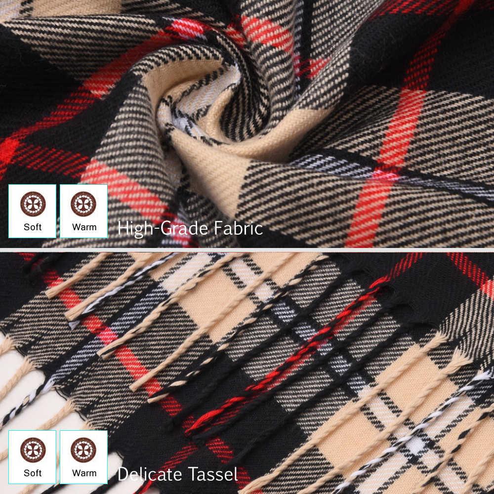 [VIANOSI] 2019 luksusowy design mężczyźni szalik fular szaliki w kratkę Poncho dorywczo zimowe szaliki męskie Bufandas Hombre