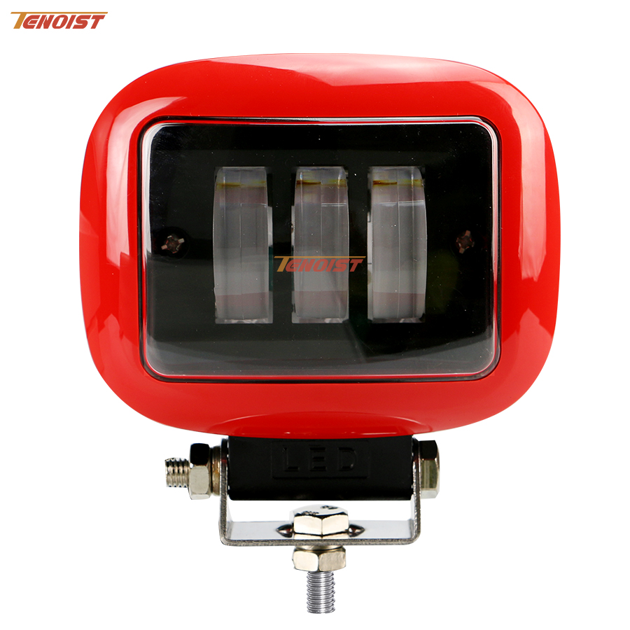 The Newest Super Bright Red Black 4.5 Inch Rectangle 30W Work Light For Wrangler SUV ATV Truck 4*4 12V 24V light sourcing the newest type 6 3 inch 60w cree tuning light black red for offroad atv suv wrangler truck 12v 24v
