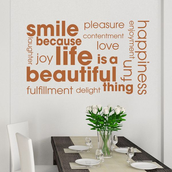 Life Is A Beautiful Thing Quote Wall Decals Inspirational Vinyl - Wall decals motivational quotes