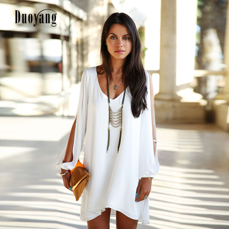 Summer fashion Women dress 2018 casual chiffon summer plus size women