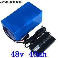 48V 1000W 1500W 2000W Battery 48V 30Ah 35Ah 40Ah Ebike battery 48V 40Ah Electric Bike Scooter Battery with 50A BMS+ 5A Charger