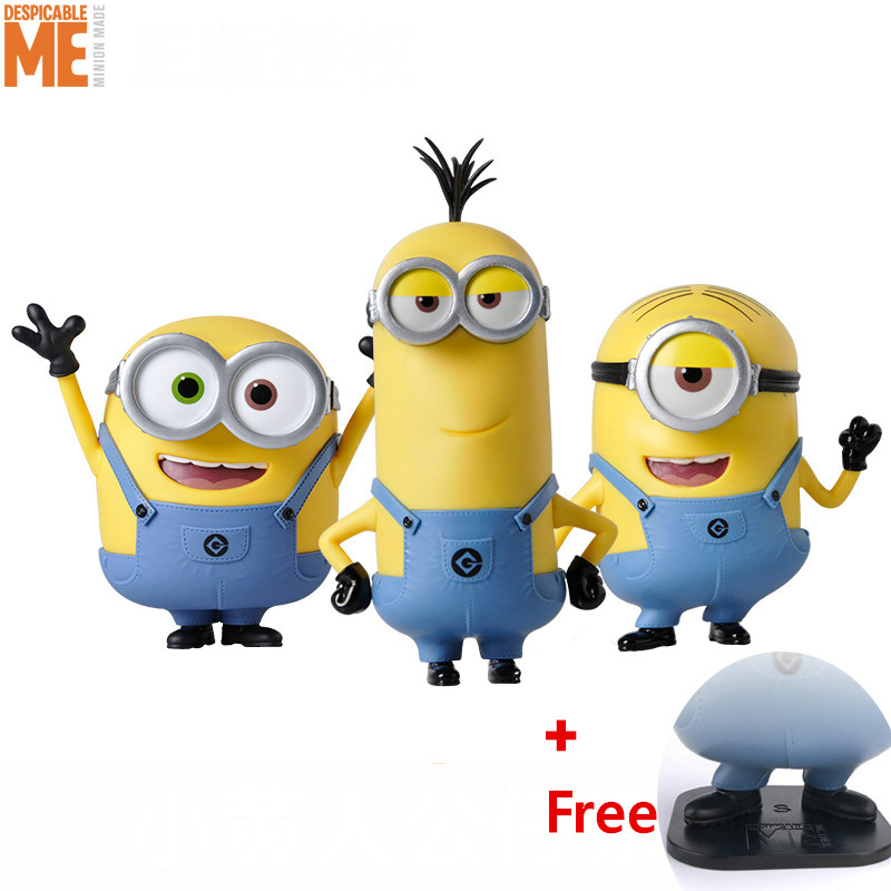 DESPICABLE ME MINION Legal copy Classic Bob/Stuart/Kevin Decoration Toys Gift Animiation Dolls Toys Action & Toy Figures босоножки stuart weitzman stuart weitzman st001awhng35