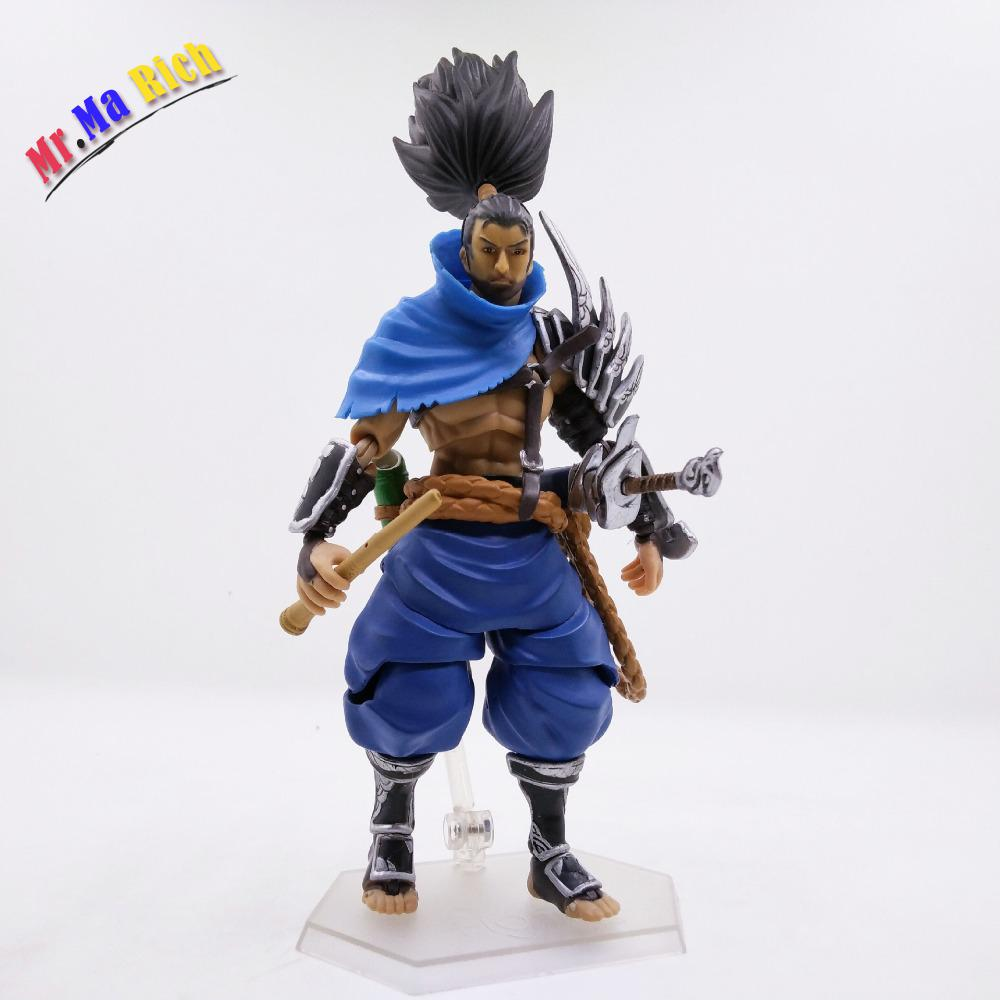 Anime Game Yasuo Pvc Action Figure Collectible Model Doll Toy 16cm Figma anime cartoon detective conan figfix sp 001 figma sp 058 pvc action figure collectible model toy 14cm