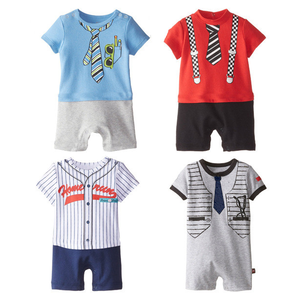 2018 New Summer Style Newborn Baby Rompers Boys Clothes Tie Strap Short Sleeves Cotton Overalls Pattern Jumpsuit new 2017 brand quality 100% cotton newborn baby boys clothing ropa bebe creepers jumpsuit short sleeve rompers baby boys clothes