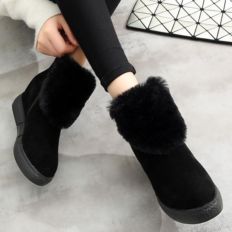 snow boots winter genuine leather solid color women winter boots adult round toe flat heel ankle boots for women 2016 designer snow boots with pearls and diamonds genuine leather pearl boots for women purple color