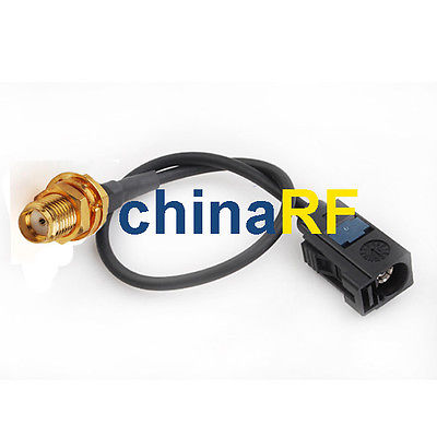 все цены на  Radio antenna Extension cable Fakra Jack A to SMA Jack adapter RG174 15cm 6  онлайн