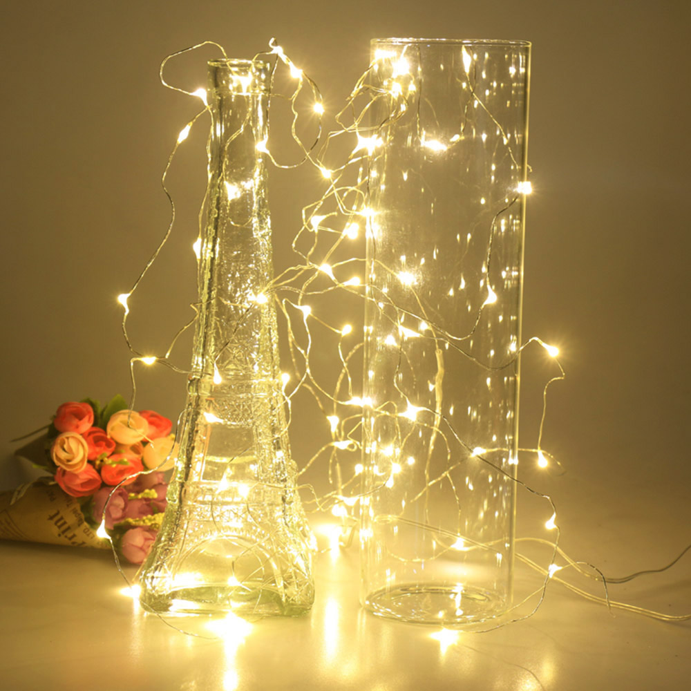 2M 5M 10M LED Star String Lights LED Fairy Lights Christmas Tree Wedding 20 50 100 Led Lights Decoration Battery Power