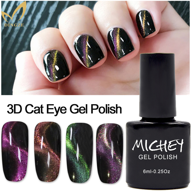 MICHEY Magic Gel Polish Magnetic 3D Cat Eye Gel Nail Polish Gel Lab ...
