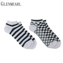 6 Pair/Lot Cotton Men Slipper Socks Summer Spring Fashion Brand Cool Striped Short Compression Coolmax Crew Ankle Male Socks 50