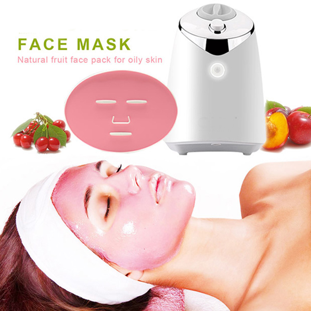 Facial Mask Machine Automatic Fruit Mask Maker DIY Natural Vegetable Mask with Collagen English Voice Beauty Machine 1 set professional face care diy homemade fruit vegetable crystal collagen powder facial mask maker machine skin whitening