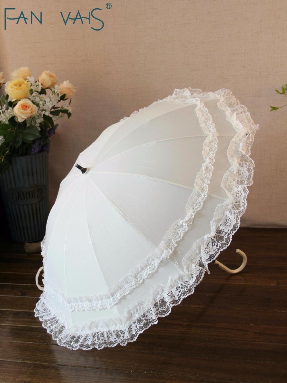Aliexpresscom  Buy Lace Parasol Sun Lace Umbrella Vintage Style Handmade Umbrellas Wedding