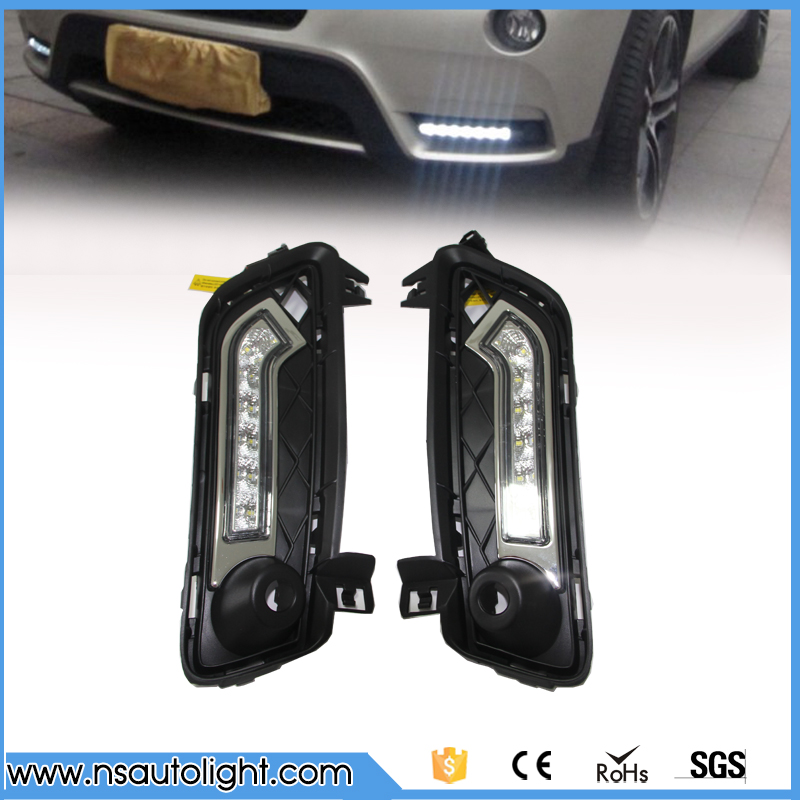 Led daytime running light drl kit  for BMW F25 X3 2011 2012 2013 2014 led fog lamp high brightness replace bulb  free shipping wljh 2x canbus no error led p21w 1156 ba15s drl driving daytime running fog lamp light for vw sagitar jetta mk6 2011 2012 2013
