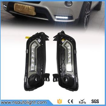 Led daytime running light drl kit  for BMW F25 X3 2011 2012 2013 2014 led fog lamp high brightness replace bulb  free shipping