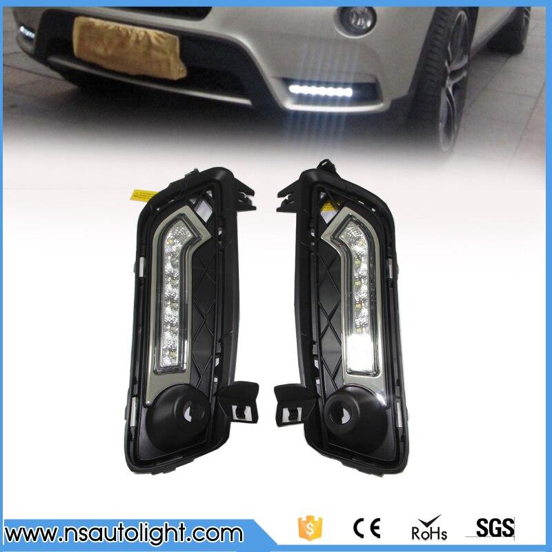 Led diurne drl kit pour BMW F25 X3 2011 2012 2013 2014 led brouillard lampe haute luminosité remplacer ampoule livraison gratuite