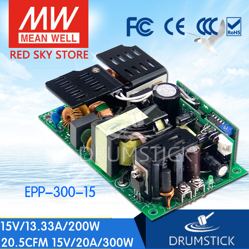 Advantages MEAN WELL EPP-300-15 15V 20A meanwell EPP-300 15V 300W Single Output with PFC Function advantages mean well psp 600 15 15v 40a meanwell psp 600 15v 600w with pfc and parallel function power supply
