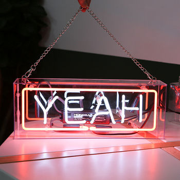Party Wall Hanging Bar Atmosphere Decoration Shop Window Glass Neon Light Led Box Wedding Word Sign Art Photography Prop Home fine art wedding photography