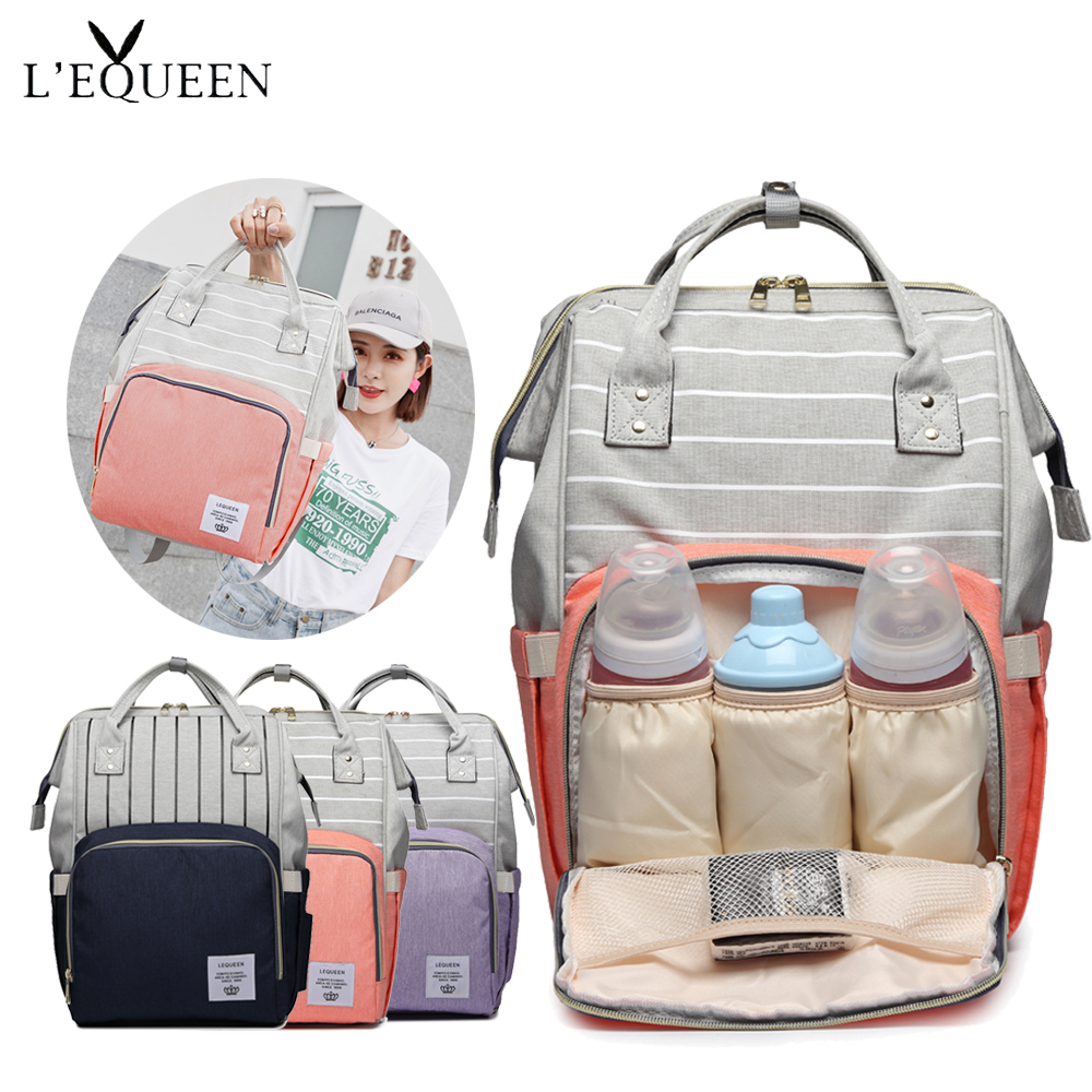 Fashion Mummy Striped Maternity Nappy Bag Large Capacity Baby Bag Bolsa Maternidade Designer Nursing Bag For Mother Baby Diaper
