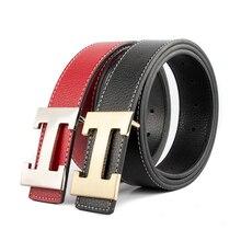 b2c439c280 2019 décontracté luxe H boucle marque Designer ceintures hommes de haute  qualité femmes Punk véritable cuir