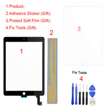 "1 piezas nuevo para iPad Air 2 2nd Gen A1566 A1567 9,7 ""Pantalla táctil digitalizador Panel exterior frontal de vidrio Sensor Replacement(China)"
