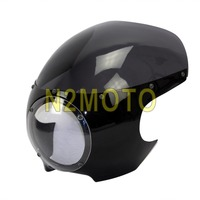Retro Cafe Racer 5.75 Head Light Fairing Wind Screen Headlight Cowl Fairing 5 3/4 for Harley Dyna Sportster Touring