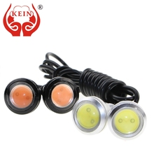 KEIN 2PCS 18mm 23mm Eagle Eye DRL car LED daytime running light modified chassis license plate