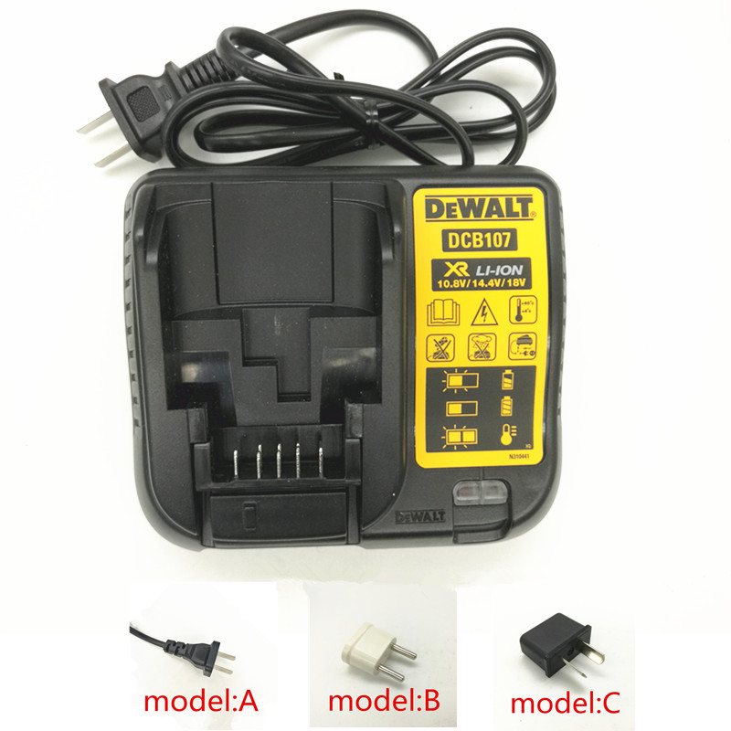 AC220-240V Charger DCB107 for Dewalt 10.8V 14.4V 18V Li-ion Battery DCB105 DCB101 DCB115 DCB203 DCB200 DCB204 ac220 240v charger uc18yksl replace for hitachi 14 4v 18v li ion battery uc18yrsl bsl1415 bsl1420 bsl1440 bsl1450 uc18ygsl