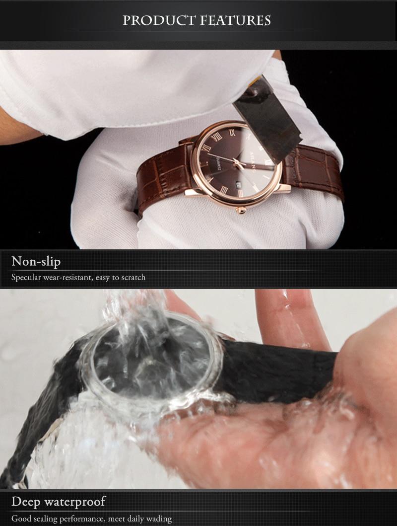 Relógios de Quartzo Número Romano Do Vintage