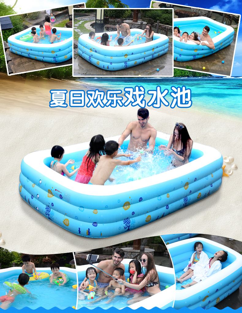 Popular Thickening Giant Inflatable Swimming Pool For Adults Children Baby Family Summer Water font b Entertainment