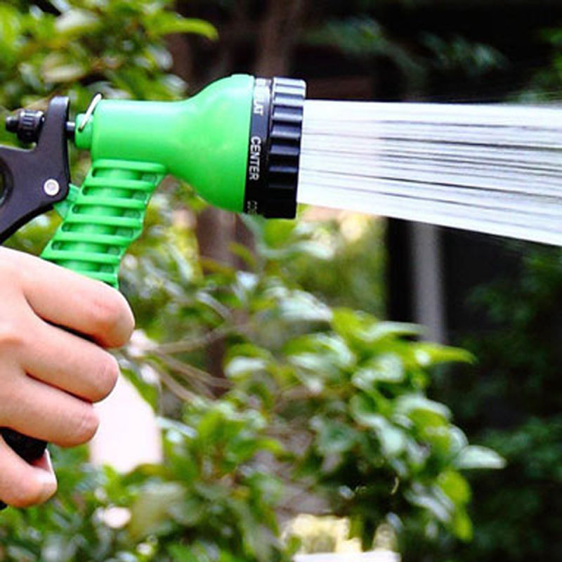 Green Plastic Copper Pressure Multi Function Water Gun Garden Watering Hose Water Nozzle Household Garden Car Wash