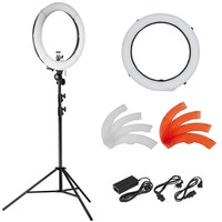 Neewer 18 LED Ring Light Dimmable For Camera Photo Video Make Up Youtube Portrait And Photography
