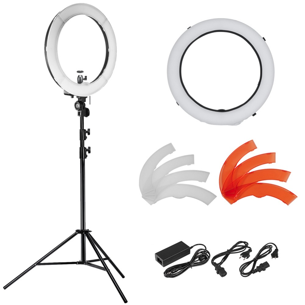 Neewer 18 LED Ring Light Dimmable for Camera Photo Video,Make Up, Youtube, Portrait and Photography Lighting,LED Ring Light Kit neewer table top mini led ring light lighting kit includes for beauty blog make up selfie studio portrait video photography