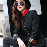 Китайский туника костюм воротник Длинные рукава Короткие пальто