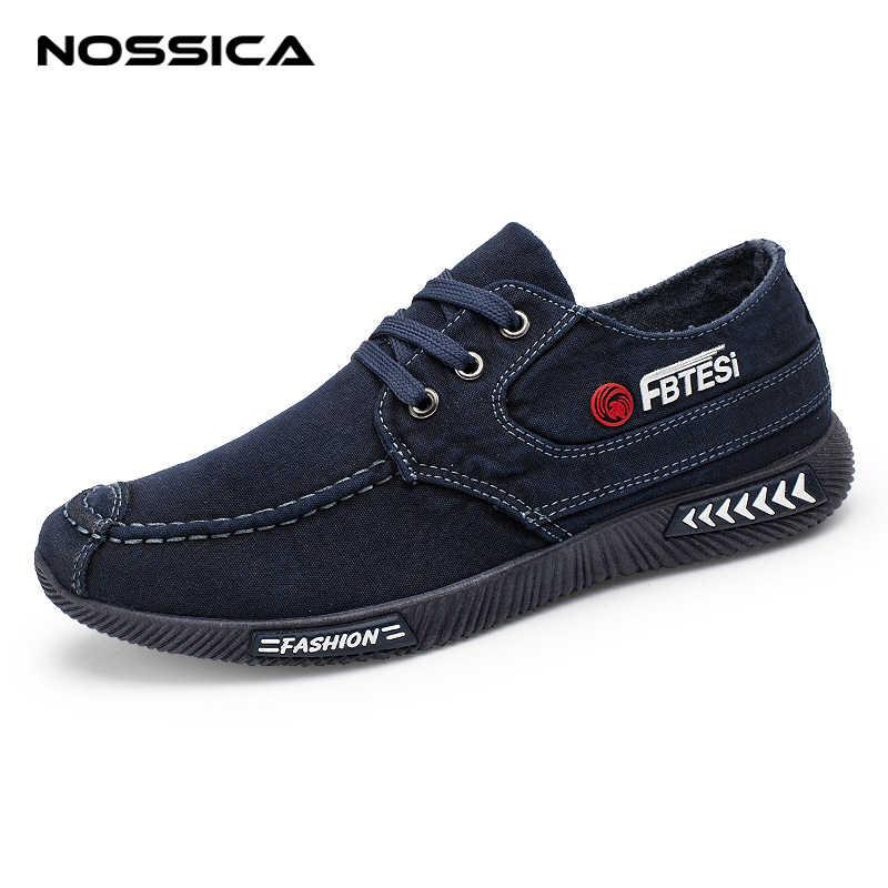 ede22435a NOSSICA сезон: весна–лето парусиновая обувь мужские кроссовки 9908 Низкий  Топ черная обувь Повседневная