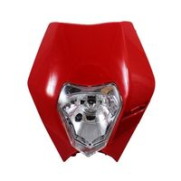 Dirt Bike Moto Universelle Phare Sport Street Fighter Tête Lampe Pour Honda Kawasaki Ducati KTM Rouge
