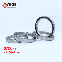 6708 2RS Bearing 40*50*6 mm ( 4 PCS ) ABEC-1 Slim Thin Section 61708RS 6708 RS Ball Bearings 6708RS