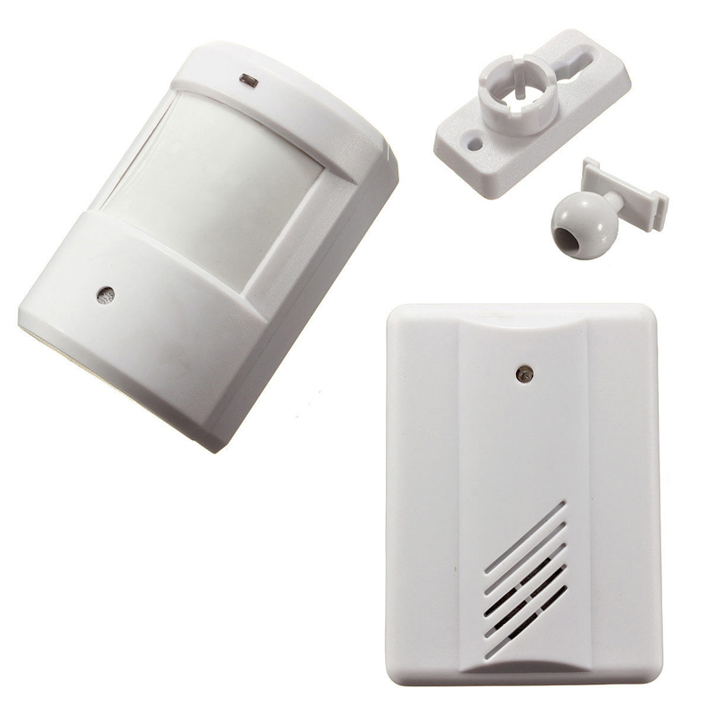Digital Wireless Doorbell Driveway Garage Motion Sensor Alarm Infrared Wireless Alarm System with Mount Door Bell цена