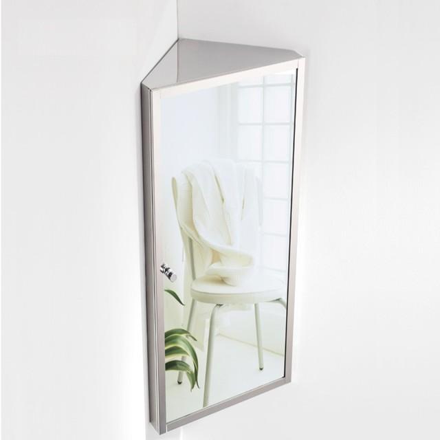 Free Shipping Stainless Steel Bathroom Mirror Cabinet Box Corner Locker