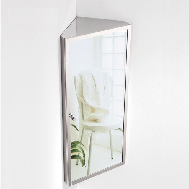 Free verzending rvs badkamer spiegelkast badkamer spiegel doos hoek ...