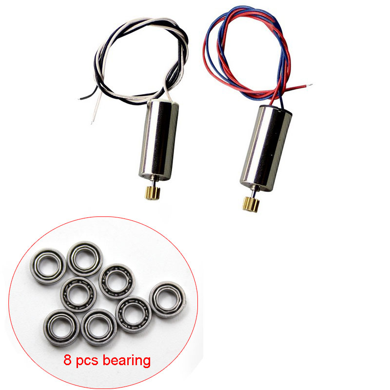 JJRC H8C H8D DFD F183 RC Quadcopter Spare Parts Set 8PCS bearings ccw/cw motors Part kit 7 4v 500mah battery spare part for h8d h8c jjrc h8c rc quadcopter
