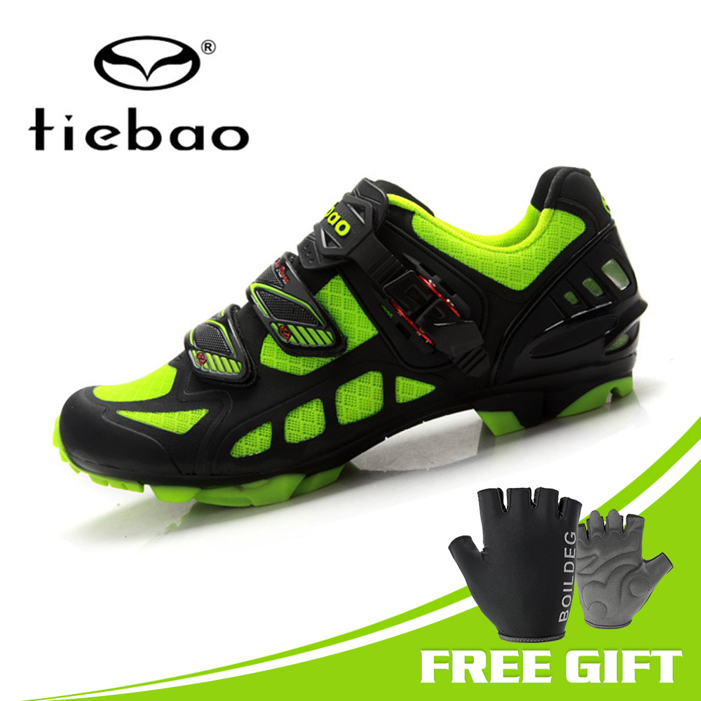 TIEBAO Breathable Mesh Upper Cycling Shoes Professional Self locking Mountain Bike Cycle Mtb Shoes Zapatillas Ciclismo