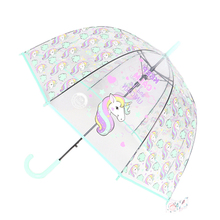 SAFEBET дети Зонт с единорогом милые Прозрачные Зонтики Apollo полуавтоматическая мультфильм Пингвин дети зонтик Прямая доставка
