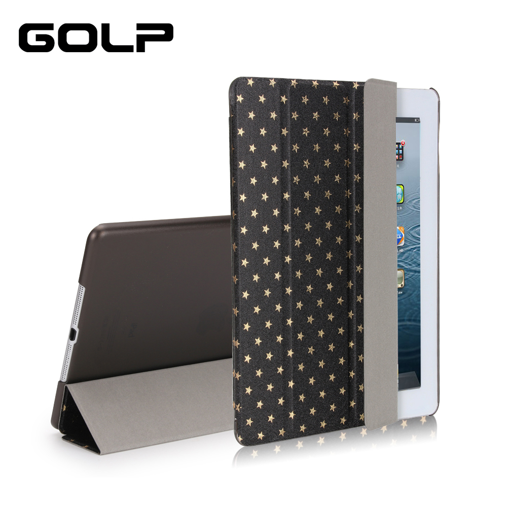 for iPad 2 3 4 case. GOLP Ultra Slim folding Stand PU leather Flip Holder for iPad 2 case,Hard PC Back cover for iPad 4 case cartoon painted flower owl for kindle paperwhite 1 2 3 case flip bracket stand pu cover for amazon kindle paperwhite 1 2 3 case