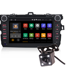 Android 5.1 8 Inch Car Dash DVD Player GPS 3G WIFI Quad Core DVR  OBD Bluetooth Reverse Camera for Toyota Corolla 2007-2011