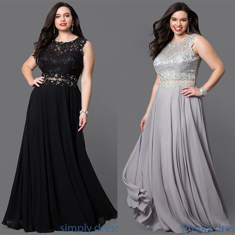 Plus Size Prom Dresses 2018 Sexy Illusion Waist Backless vestido de festa  Women Solid Color Chiffon ... b76aab12bf63